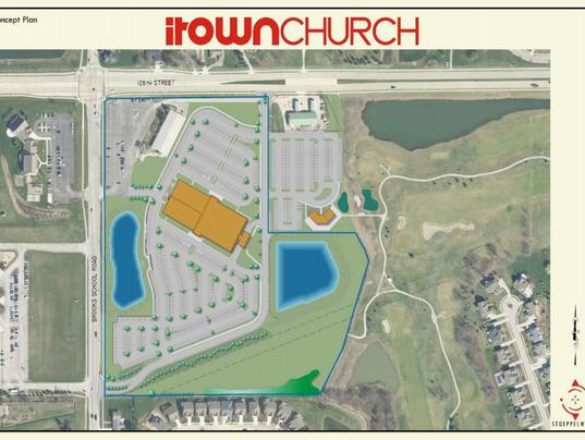 iTown Church map