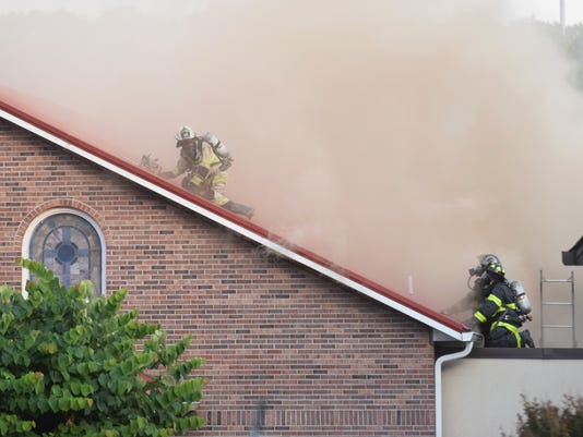Fire at East Knoxville church