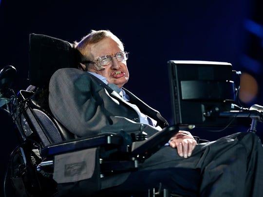 British physicist, Professor Stephen Hawking speaks
