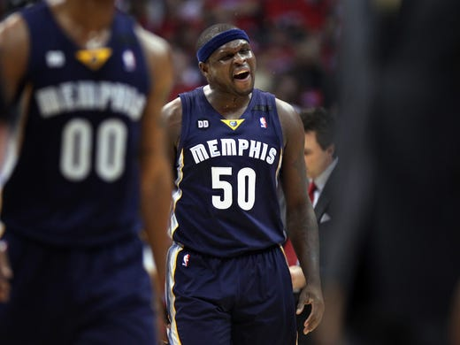 April 20, 2013 -  Memphis Grizzlies forward Zach Randolph