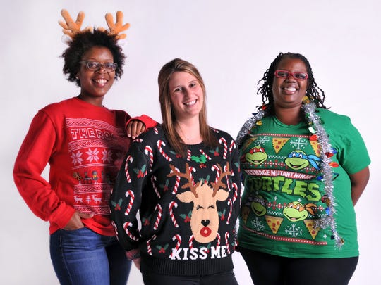 Ugly holiday sweaters will come out of the closet Saturday for a Guinness World Records event at Beacon Park.