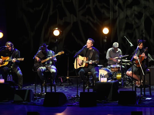 Artist-in-residence Jason Isbell performs with the