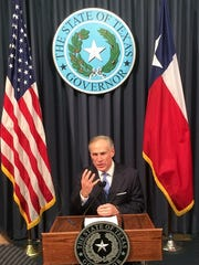 Gov. Greg Abbott announces he is calling a special