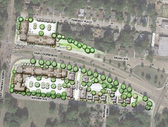 Site plan for Overton Gateway