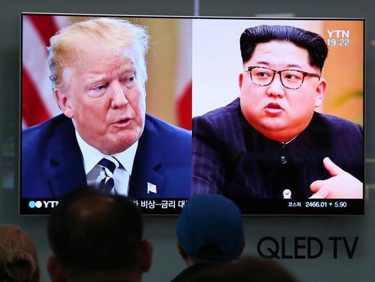 Donald Trump, Kim Jong Un d