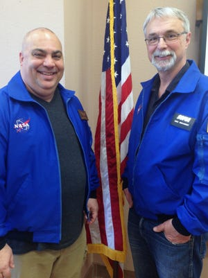 Jeff Killebrew and Michael Shinabery, Alamogordo educators, were the first New Mexicans to participate in NASA's Airborne Astronomy Ambassadors program. They've given 15 presentations to the  community since their return.