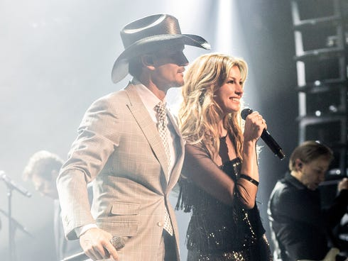 Tim McGraw and Faith Hill take the stage for their resident show, 'Soul2Soul' at The Venetian.