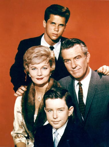 "The cast of ""Leave It To Beaver""  clockwise: Tony Dow,"