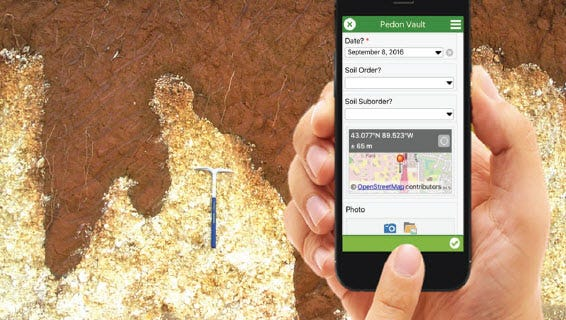 New Pedon Vault app offers national database of sites to visit, offering good exposures of soil profiles and data at your fingertips.