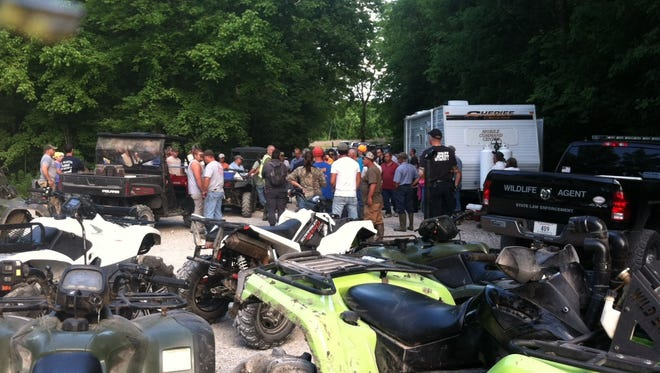 As many as 65 people helped search for the missing family in St. Martin Parish on Monday.