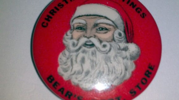 Roger Fuller of Yoe also shared this Christmas pin from Bear's Department Store, which he got at an estate sale. 'I never knew that Bear's gave out Santa pins until i saw this one at the sale,' he noted.