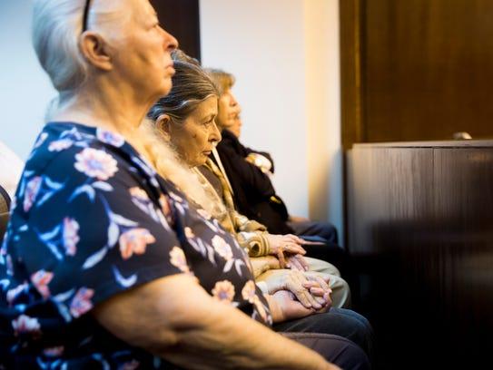 The family of Lisa Troemner quietly awaits the jury's