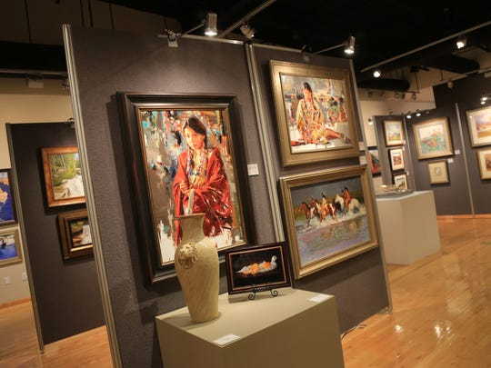 A variety of two-dimensional and three-dimensional art comprise the 236 pieces in the 2016 Sears Dixie Invitational Art Show and Sale at Dixie State University's Eccles Fine Arts Center in St. George.