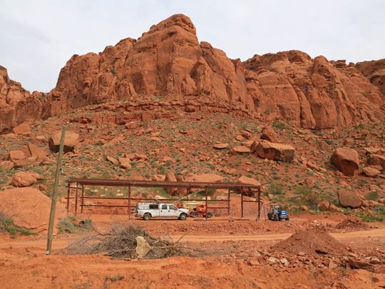 Tuacahn is constructing a new building on its backlot to house horses used in theatrical productions.