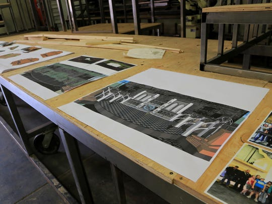 """Set designs for """"The Hunchback of Notre Dame,"""" """"Tarzan"""" and """"Peter Pan"""" can be seen backstage at Tuacahn's set shop."""