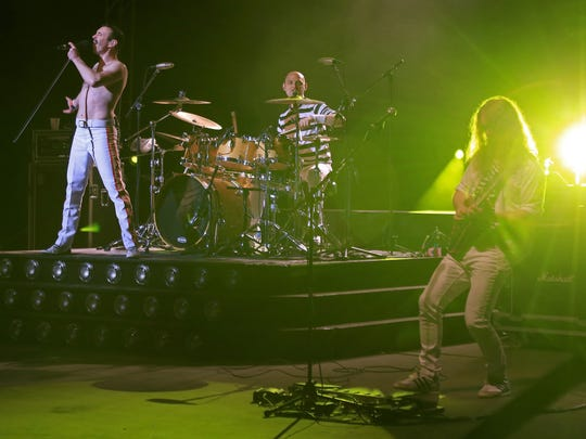 """Gary Mullen and The Works perform during their """"One Night of Queen"""" show Friday at Tuacahn Amphitheatre in Ivins City."""