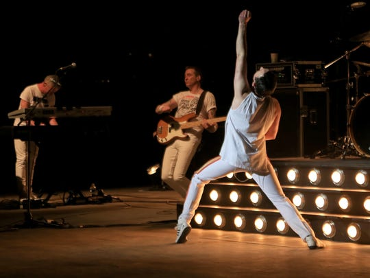 """Gary Mullen and The Works tear through a nearly 30-set of Queen songs during their """"One Night of Queen"""" show Friday at Tuacahn Amphitheatre in Ivins City."""