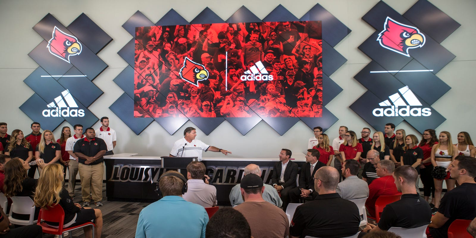 quality design 188bc af72b Louisville and Adidas  Will the basketball scandal kill the deal