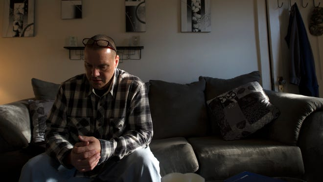 Andre West, of Fairview Township, talks about getting a protection from abuse order against his wife during an interview in his home in December. He received both a temporary and permanent PFA and said he was happy for the court orders.