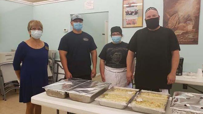 Coastal Carolina Community College culinary students recently donated cooked meals to the Onslow Community Outreach Soup Kitchen.