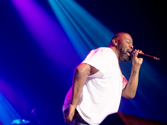 "Biz Markie had his only charting hit with ""Just a Friend,"" which hit No. 9 on March 17, 1990. here he is performing during an ""I Love the 90s"" tour at the Salem Civic Center in Virginia on Sept. 8."