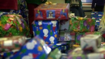 A sea of wrapped presents