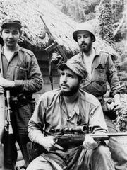FILE - In this March 14, 1957 file photo, Fidel Castro,