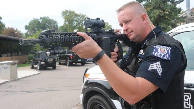 Sgt. Shane Wash has had his custom patrol rifle for four years.