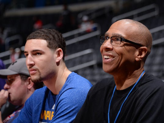 Klay Thompson Mychal Thompson