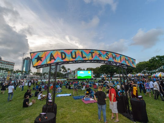 Adult Swim Miami at Bayfront Park in Miami, Florida on May 31, 2018