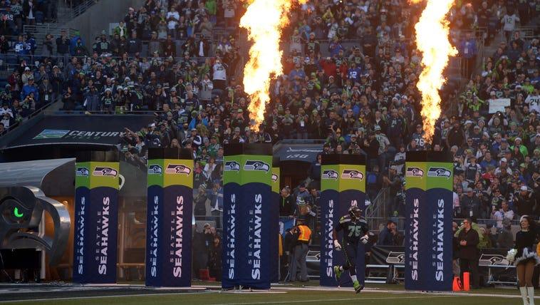 Dec 14, 2014; Seattle, WA, USA; Seattle Seahawks tackle