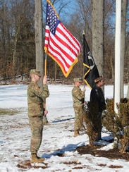 Two members of the Rutgers University Army ROTC with