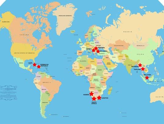 World Race map