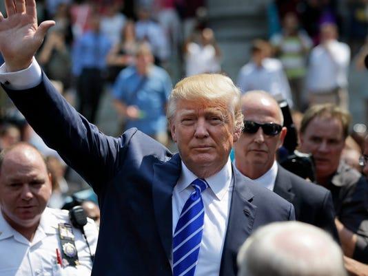 AP GOP 2016 TRUMP JURY DUTY A ELN USA NY