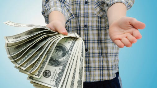 Parents need to be aware that they may be passing on their bad money habits to their kids.