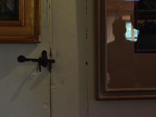 According to Mike DiPaolo this latch would be opened each night as the Cannonball House was restored in the 1960s.