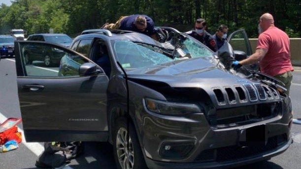 A 42-year-old Templeton, Massachusetts, woman was driving on Route 2 in Fitchburg when a tire and rim smashed into her car. She later died from her injuries.
