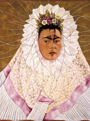 """""""Diego on My Mind"""" (1943), by Frida Kahlo, is featured in the traveling exhibition """"Frida Kahlo and Diego Rivera"""" at the Heard Museum."""
