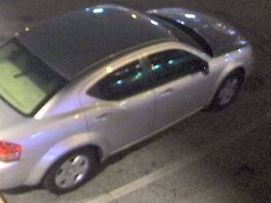 Police released this image of a silver car that may have been connected to the burglary of a Walgreens.