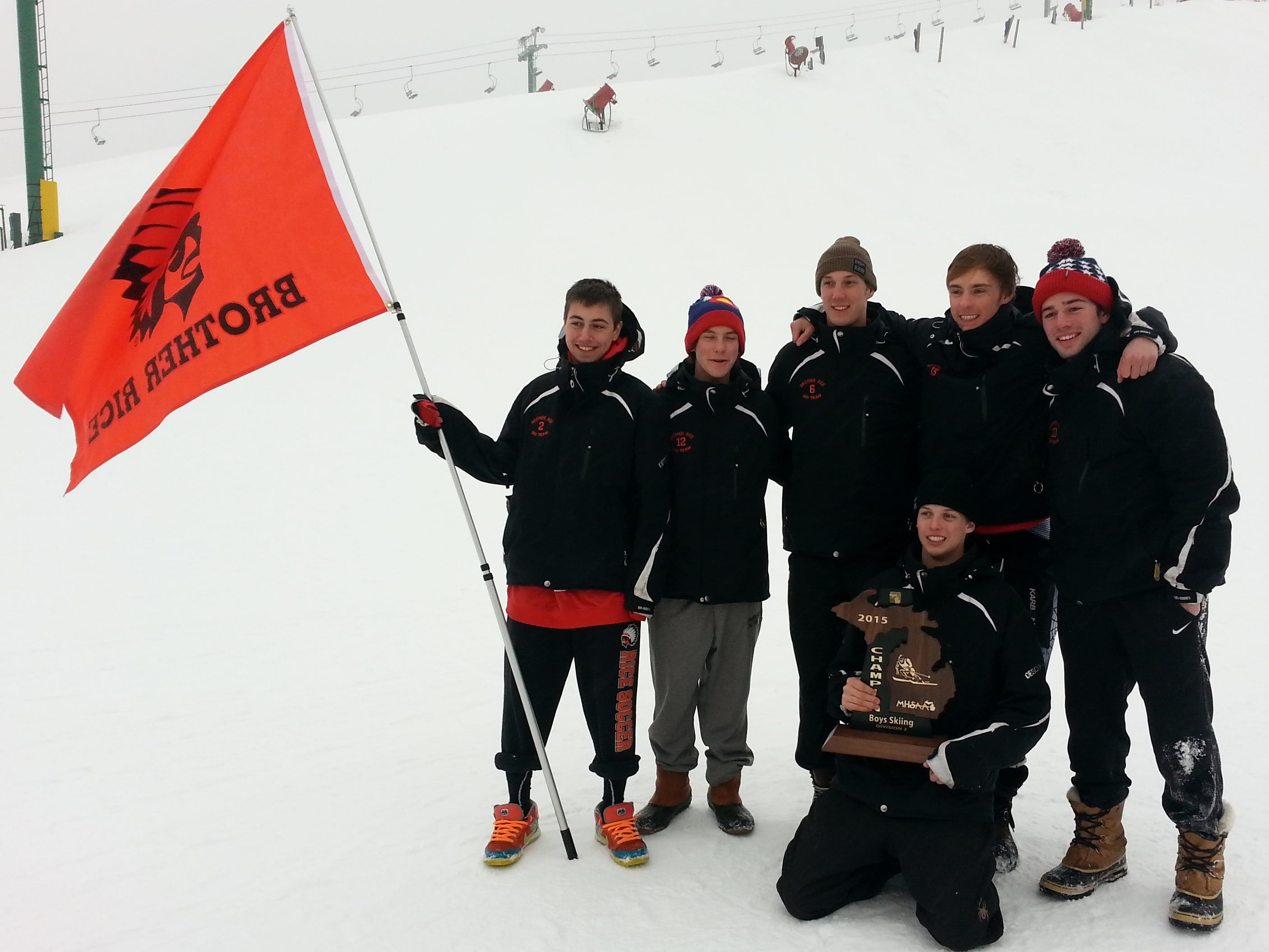 Brother Rice dominated the Division 2 regional championship meet Wednesday at Pine Knob. Team members included Robbie Cort, Max Radecky, Daniel Lunghamer, Thomas Hamill, Michael Richard and Blaize Surhigh.