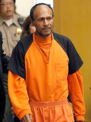 Francisco Sanchez walks into the court for his arraignment at the Hall of Justice on July 7, 2015, in San Francisco.
