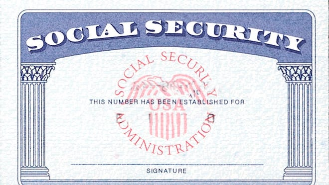 This is a blank Social Security card.