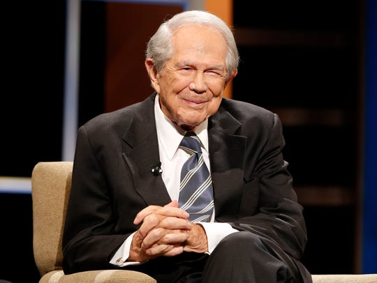 Pat Robertson is seen at a Regent University event