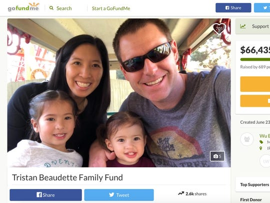 Tristan Beaudette of Irvine, California, was fatally shot in front of his two daughters while camping in Malibu Creek State Park.