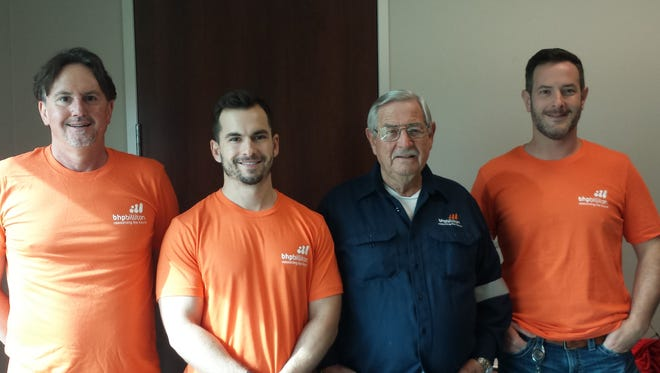 The BHP Billiton team includes from the left Stuart Fuqua, Mitchell Loyd, Jack Thompson and Heath Thompson.