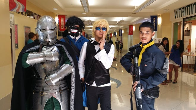 EpixCon goers embrace the cosplay tradition. From left: Hayden Ward, Brandon Villagomez, Darren Caldwell and Roman Quinata.