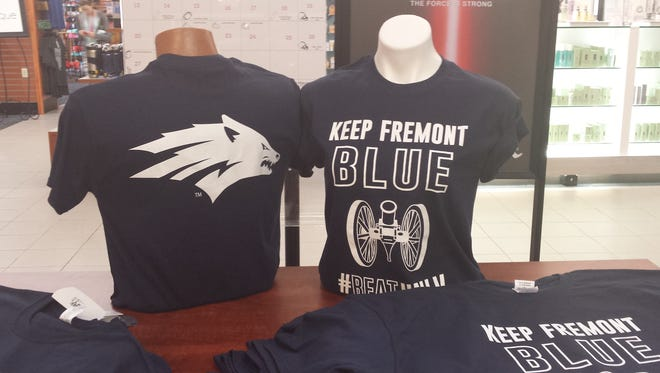 Keep Fremont  Blue T-shirts being distributed at UNR last week.