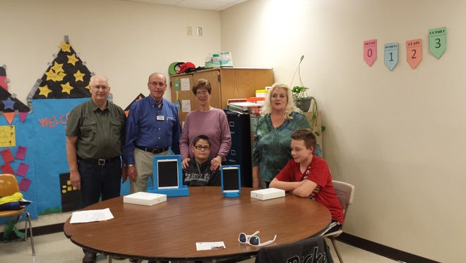 In its continuing commitment to serve community children, The Sheboygan Falls Kiwanis Club presented four iPads as part of the Wisconsin Upper Michigan Kiwanis Autism Project.