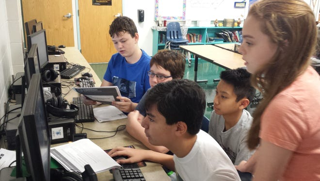Ascension Catholic School students are testing their cyber security skills through the CyberPatriot competition.
