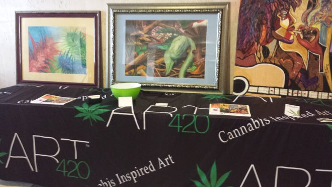 The Art420 exhibit at Cannabis 101 featured works done by artists who use marijuana to inspire their creativity.
